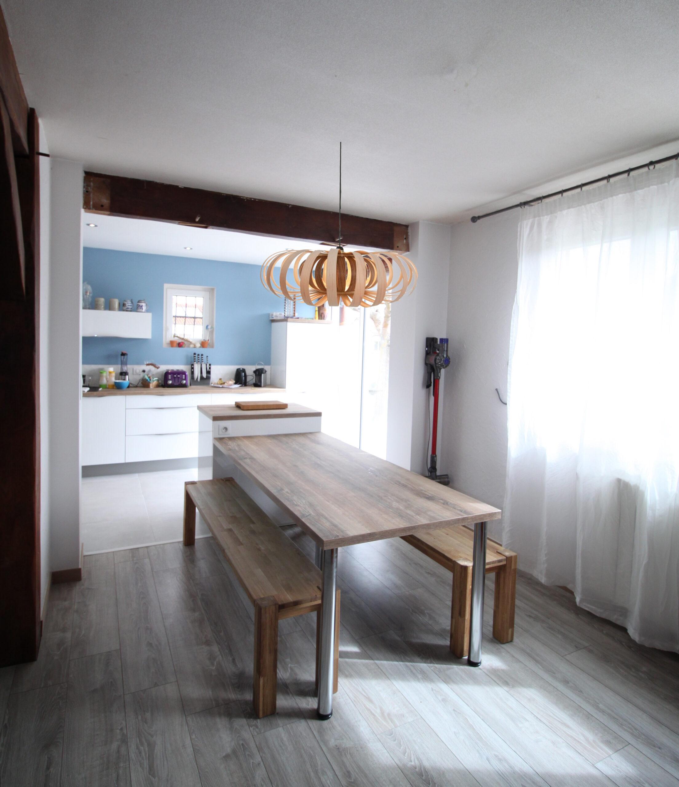 cuisine banc+luminaire